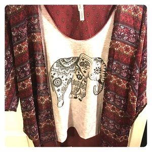 Tops - Tank with matching thin cardigan